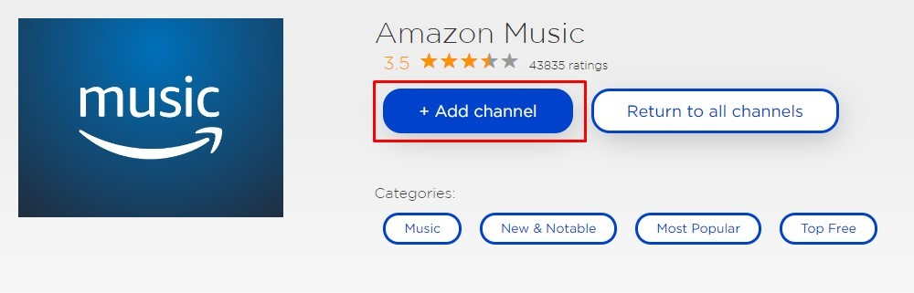 How to install Amazon Music on Roku