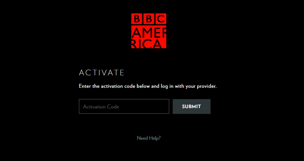 Enter Activation Code and Click Submit