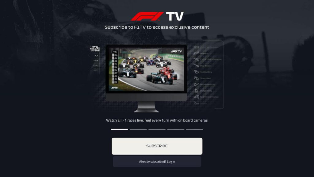 F1 TV ON ROKU - subscribe