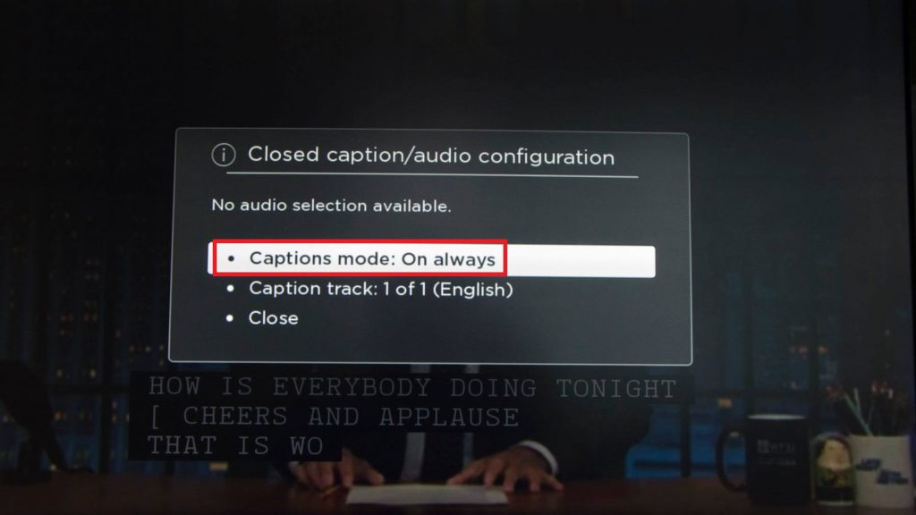 caption mode - HOW TO TURN OFF CLOSED CAPTION ON ROKU
