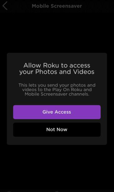 Give access