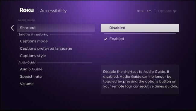 HOW TO TURN OFF VOICE ON ROKU