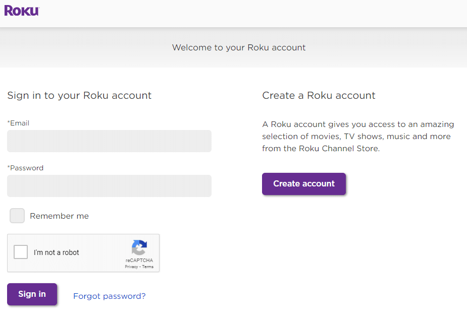 Sign In to Roku account - Cancel Sling TV on Roku