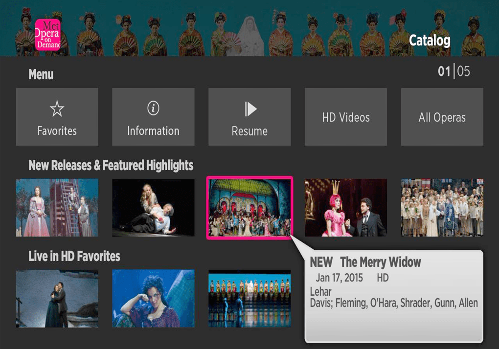 DOWNLOAD AND INSTALL  MET OPERA ON ROKU