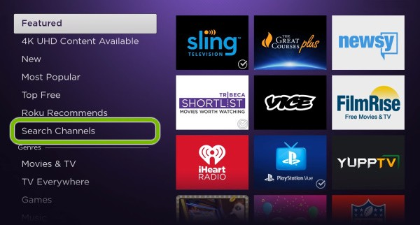 HOW TO YES NETWORK ON ROKU