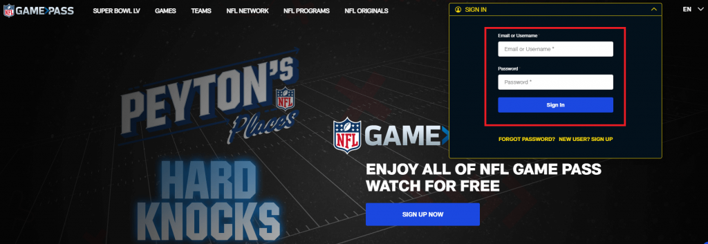 signin - How to Cancel NFL Game Pass Subscription on Roku