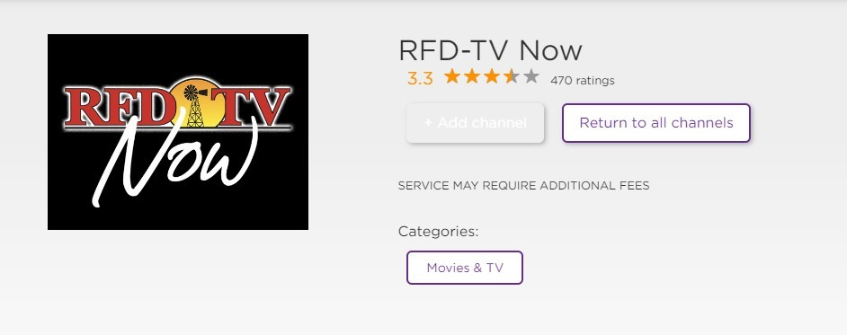 RFD TV on Roku