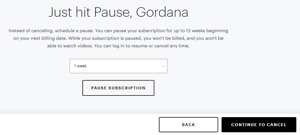 continue to cancel