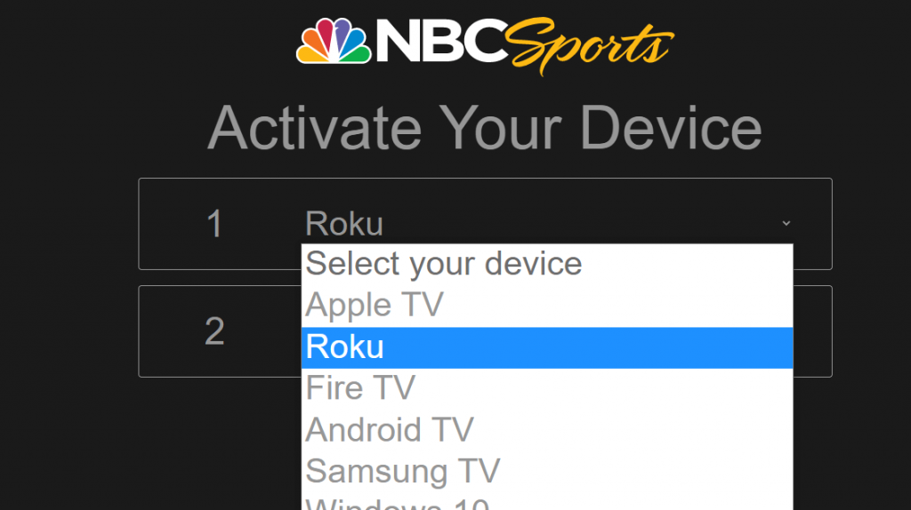 activate NBC Sports on Roku