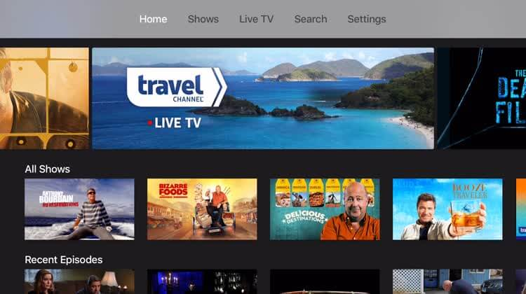 Travel Channel on Roku