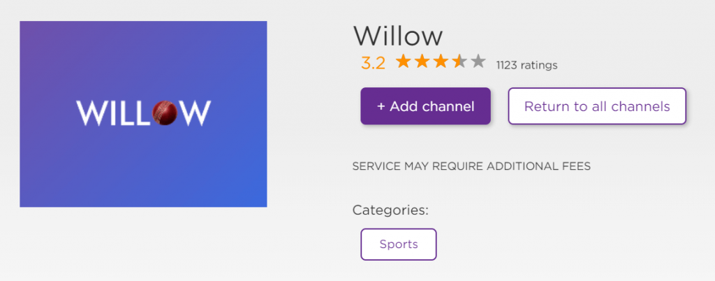 Willow on Roku