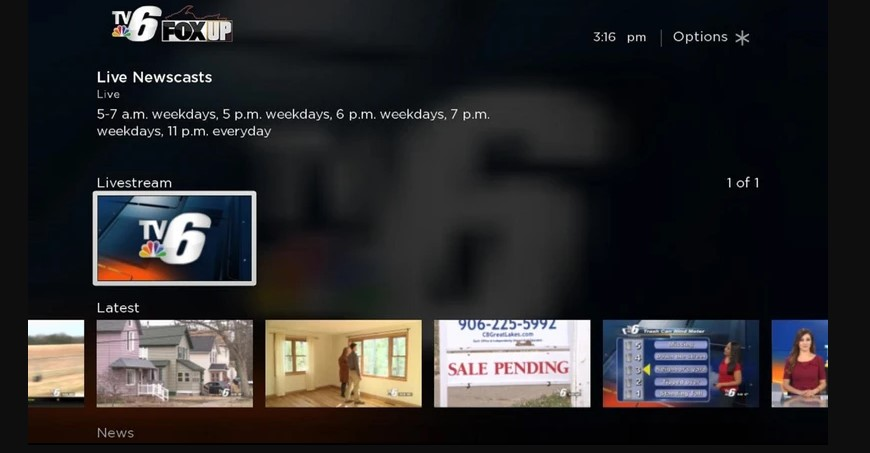 How to Add WLUC TV6 & FOX UP on Roku