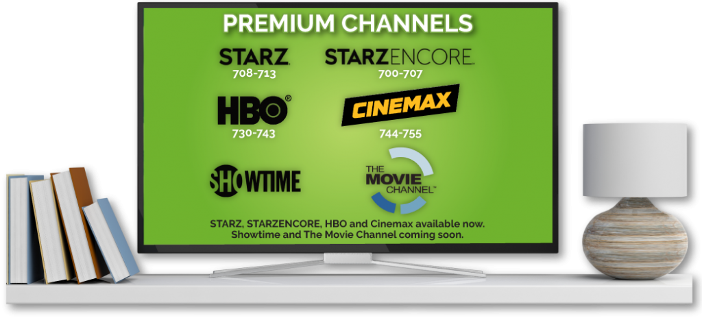 Premium channels available on Skitter TV