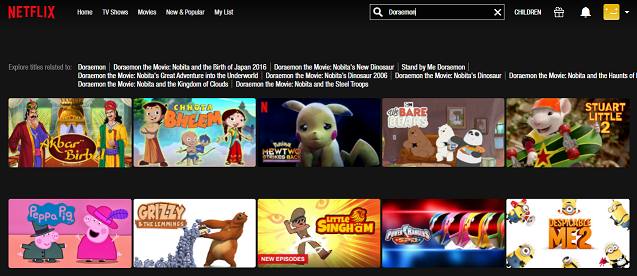 Grizzy and the lemmings series on Netflix search
