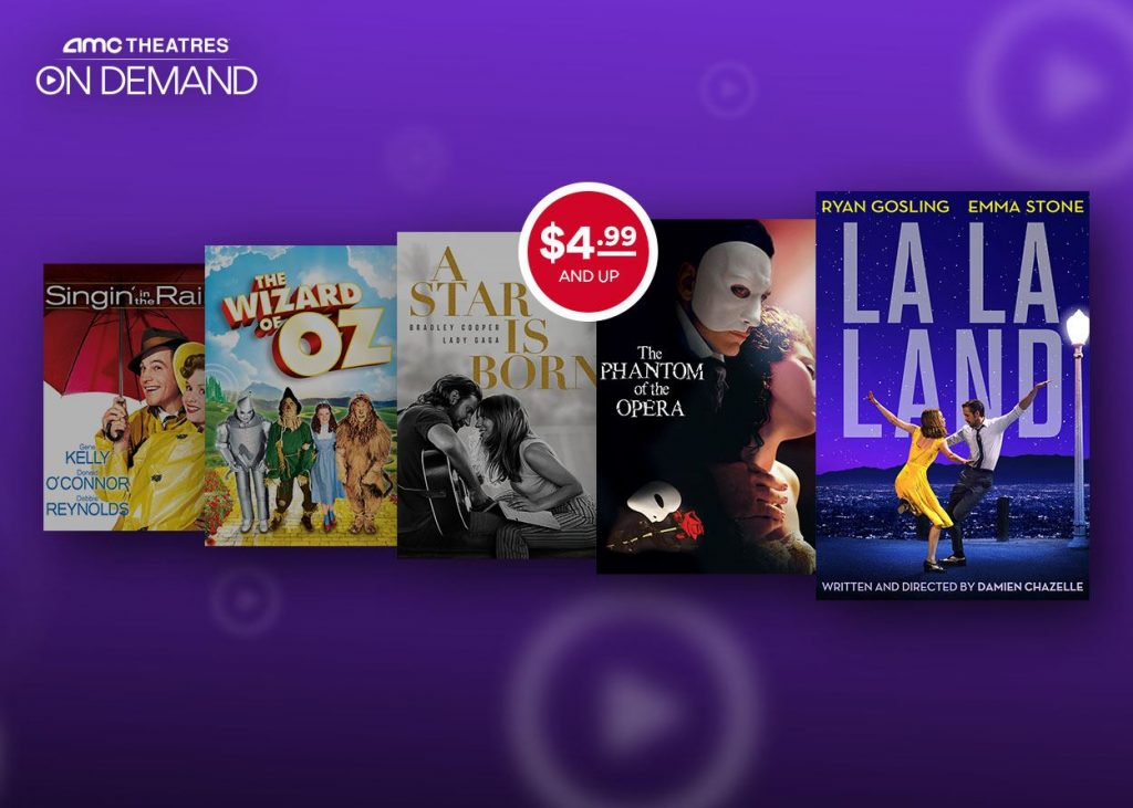 AMC Theatres on demand rent or buy movies list